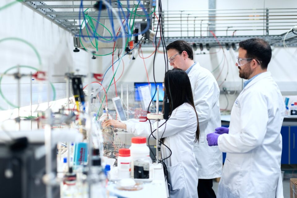 Menschen im Labor